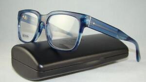 d3050d113203 Hugo Boss 0737 K94 Havana Blue Unisex Glasses Eyeglasses Frames Size ...