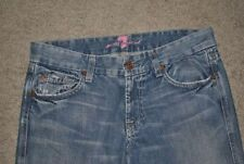 "7 Seven For All Man kind ""A"" Pocket Distressed Blue Women's Denim Jeans 27 x 29"