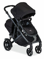 Britax 2017 B-ready Double Stroller In Black Brand With Second Seat
