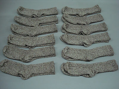 NWOT Women's Merino Wool Blend Ribbed Socks Shoe Size 6-9 Brown 12 Pair