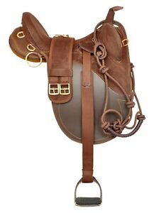 New-Synthetic-Suede-Australian-Stock-Horse-Saddle-Tack-Size-16-to-18