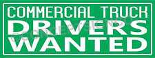 15x4 Commercial Truck Drivers Wanted Banner Outdoor Sign Cdl Owner Operators
