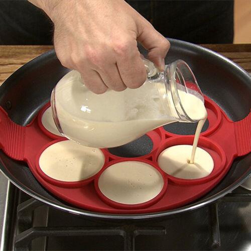 Pancake Egg Maker Mold Nonstick Silicone Omelette Egg Ring Cooker Pan Flip Mould