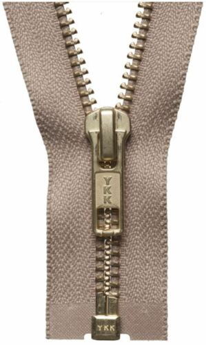 YKK Metal Open End Zip //// 24 different colours and sizes GREAT VALUE