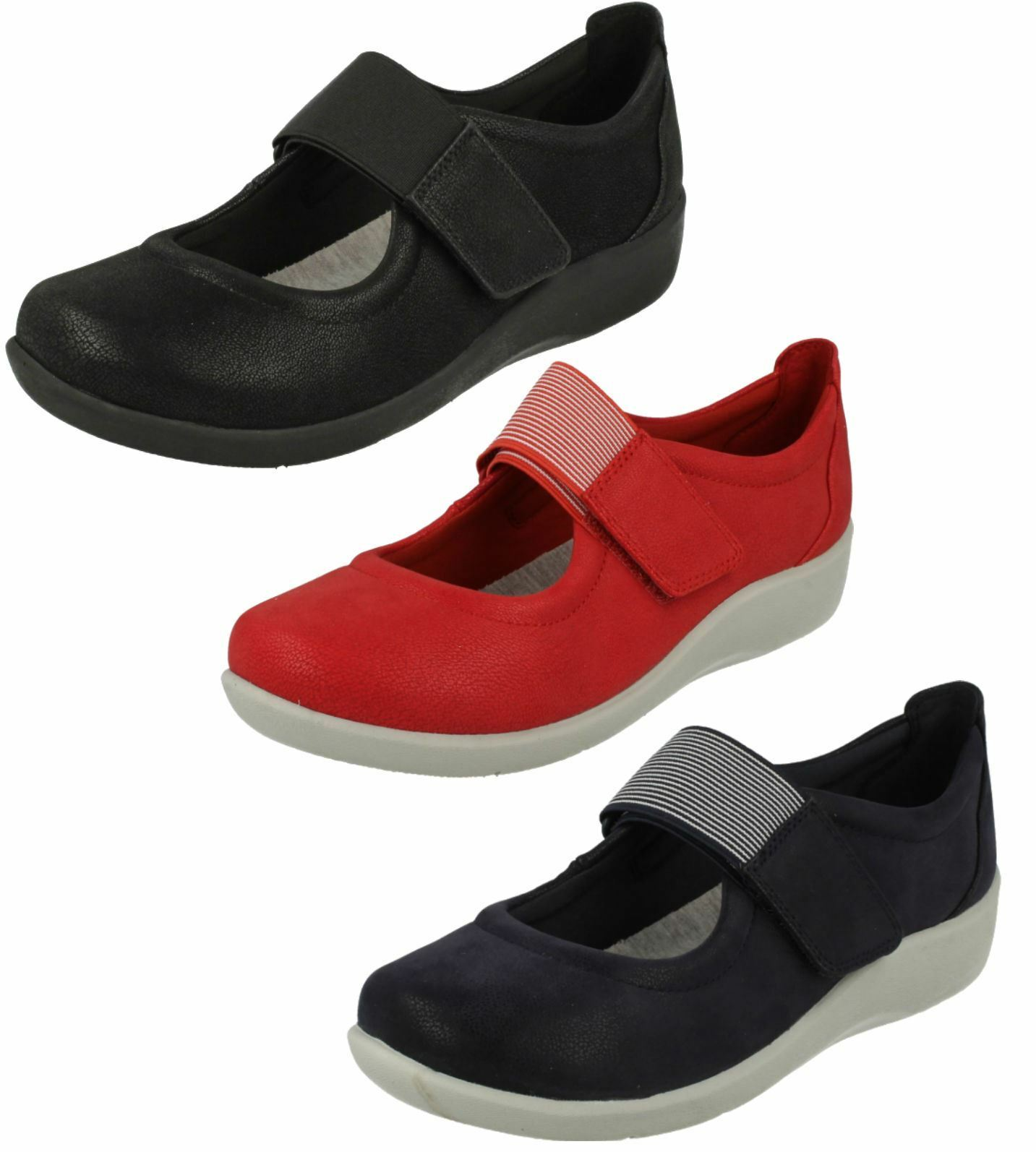 Femmes Clarks cloudsteppers Plates Casual chaussures-Sillian Cala
