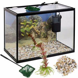 18 l ou 26 L Verre Aquarium Fish Tank Starter Set Kit Filtre Pompe Net Plant Pierres-afficher le titre d`origine bd2GZM4C-07193009-912139887