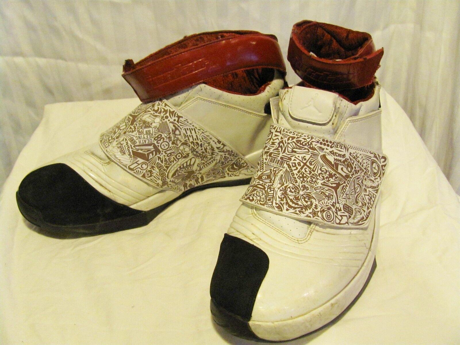 Nike Air Jordan XX 20 White/Varsity Red-Black 2005 Men's 310455-161 Price reduction Casual wild