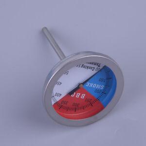 2-Stk-2-039-039-BBQ-Barbecue-Raucher-Grill-Thermometer-Edelstahl-Temp-Gauge-100-550-F
