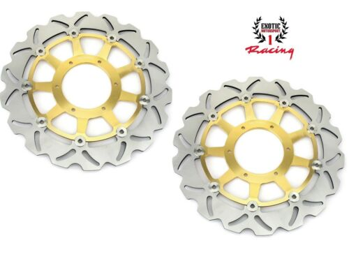 Front Brake Disc Rotors Set For Honda RVT1000R RC51 2000-2007 Wave Rotors
