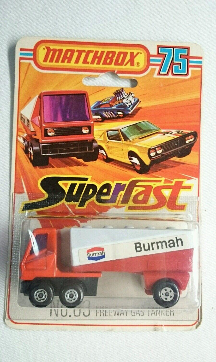 Matchbox Superfast Nº 63 Freeway Gas Tanker Como Nueva 1976 Lesney Vintage