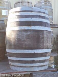 Rustic Wine Barrel from Napa Valley solid oak LOWEST PRICE & SHIPPING ON EBAY!