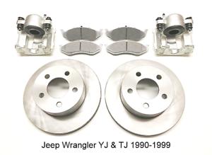 Pour-Jeep-Wrangler-Yj-amp-Tj-avant-Frein-Reparation-Kit-1990-99