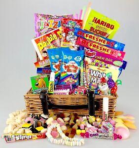 DELUXE Wicker RETRO Sweet HAMPER Gift