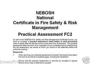 NEBOSH Fire FC2 Practical Risk Assessment High Scoring