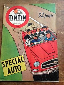 journal-tintin-416-France-1956-couv-Herge-special-auto-avec-cheque-tintin