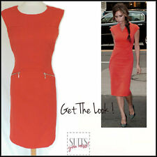 NEXT RED PENCIL SHIFT DRESS BUSINESS OFFICE ELEGANT CHIC SEXY WORK to WINEBAR 8