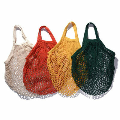 1pc Reusable Pro String Grocery Shopping Bag Cotton Mesh Net Woven Mesh Shopper