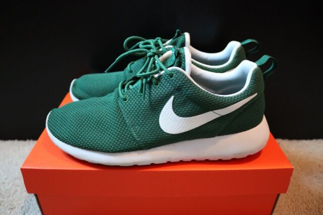 9330f7eea1e Nike Roshe One Mens Sz 9 Forest Green Running Shoes Sneakers 511881-313