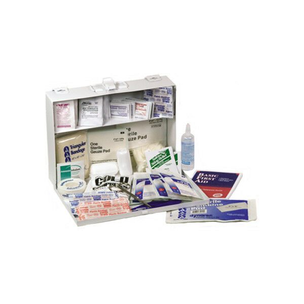 25 Persons First Aid Medical Safety Kit Plastic Box FAK25P