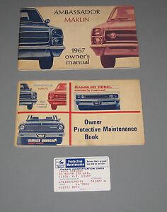 1967 amc ambassador marlin original owners manual and maintenance rh ebay com owners manual macgregor 26 pdf owners manual amaha rxa 3060