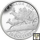 2014 'The White-Tailed Deer-Mates' Prf $20 Silver Coin 1oz .9999 Fine(NT)(14069)