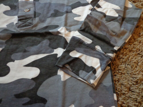Details about  /CHILDREN/'S PLACE boys sz 4 NWT white//black//gray camo pattern henley long sleeve