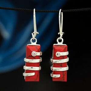 Koralle-Silber-925-Ohrringe-Damen-Schmuck-Sterlingsilber-H0303