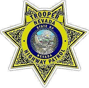 Nevada State Trooper Highway Patrol  Reflective or Matte Vinyl Decal Sticker