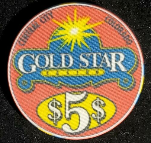 Gold Star $5 Casino Chip CENTRAL CITY Colorado Free Shipping