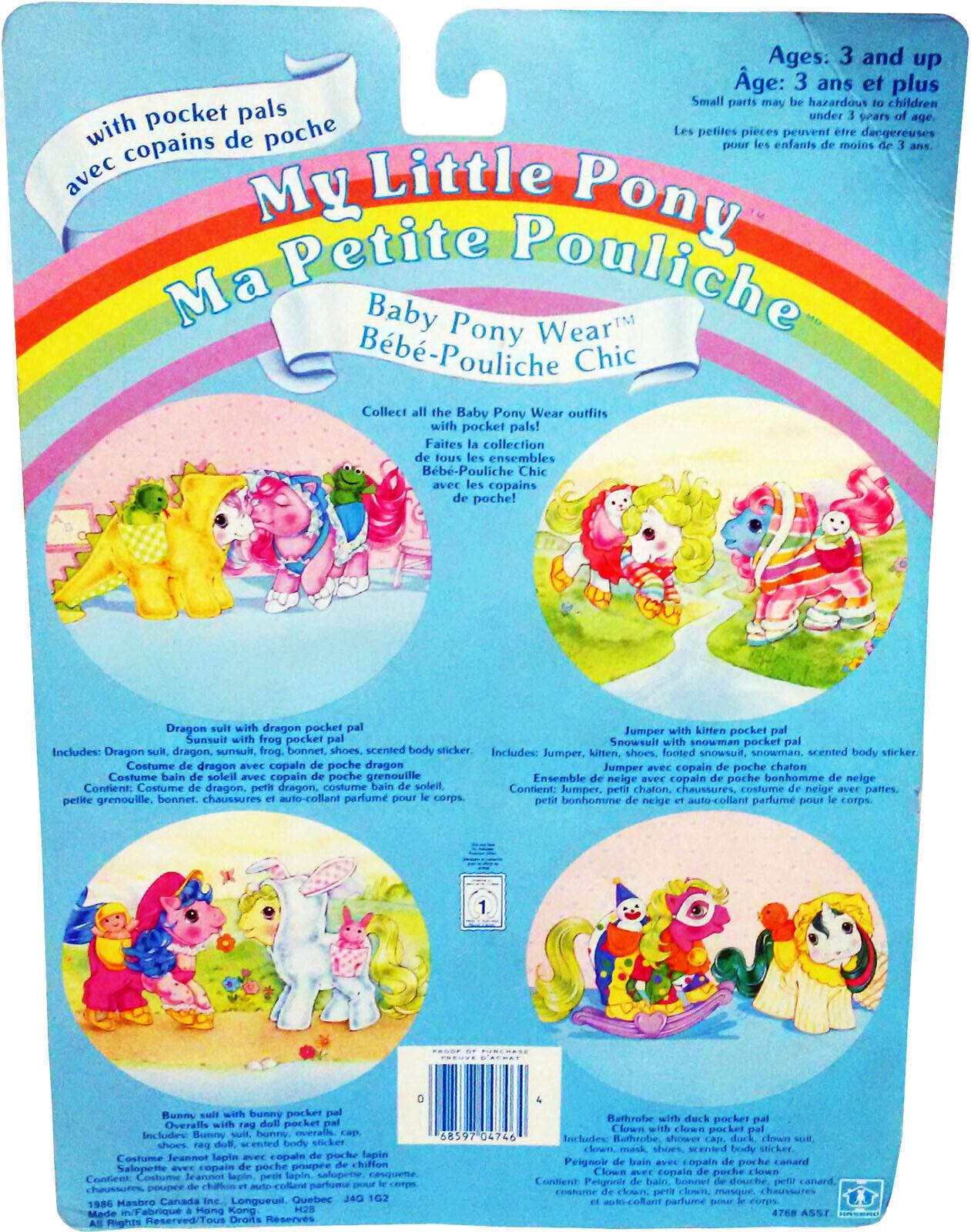 My Little Pony™ Baby Pony Wear, Wear, Wear, Jumper & Snowsuit, Vintage 1986, MOSC   555cfb
