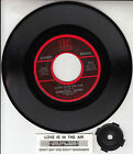 """JOHN PAUL YOUNG Love Is In The Air 7"""" 45 rpm vinyl record + juke box title strip"""