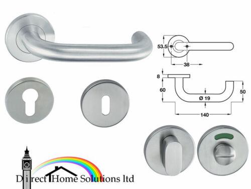 HAFELE Polished Stainless Steel Lever Handle Set HL04