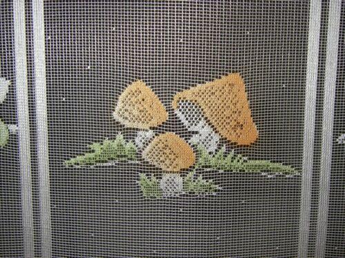 Lange Scheibengardine Fuchs Pilze Wald Tiere Füchse Kinderzimmer 114 cm x 90 cm