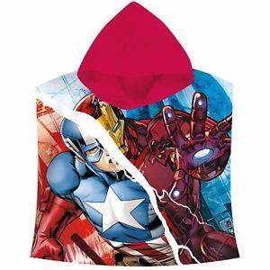 Marvel-Avengers-Capuche-Serviette-Poncho-100-Coton-Enfants