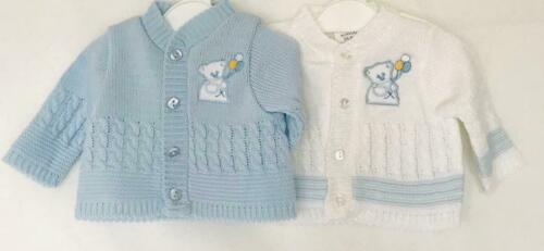 3//5 ib to 5//8lb.and 2 Colours BBLJ  Boys  Premature Cardigan in 2 sizes