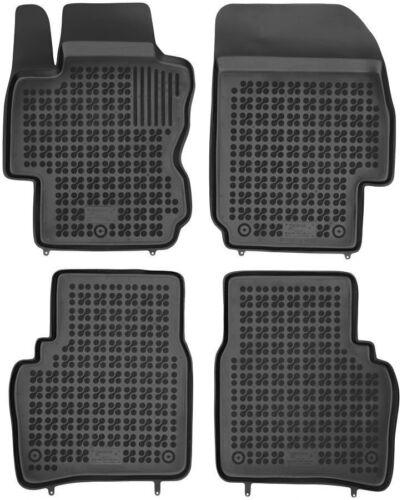 4-teilige schwarze Gummifußmatte für NISSAN Note Bj 2006-2012