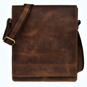 Genuine-buffalo-Leather-Shoulder-Bag-Messenger-Cross-handbag-vintage-man-Davis