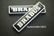 New Pair Brabus Metal Fender Body Side Sticker emblem