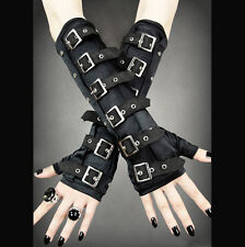 Restyle Gothic arm warmers gloves with buckles. Metal. Steampunk. Goth.Halloween