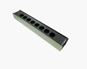 """Steel Project Box 12-5/8"""" x 1-7/8"""" x 1 5/8"""" Pre-Punched for 10 """"D"""" Series XLR"""