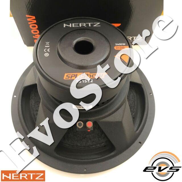Hertz SS 15 D2 Linea Spl Show Subwoofer Sub 38cm 380mm 2400W 2+2 Ω Nuovo GAR ITA