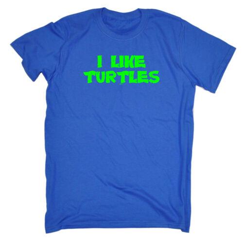 Funny Novelty T-Shirt Mens tee TShirt I Like Turtles