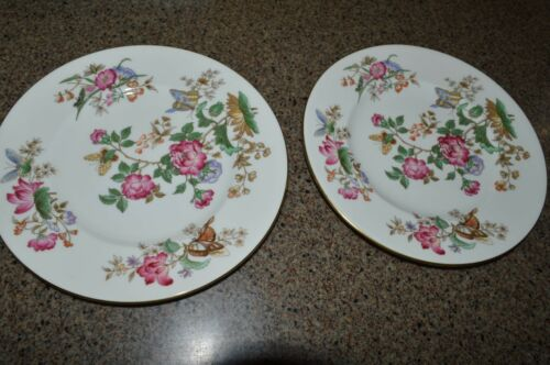 """2 WEDGEWOOD CHARNWOOD BUTTERFLY PATTERN 6 7//8/"""" Plates"""