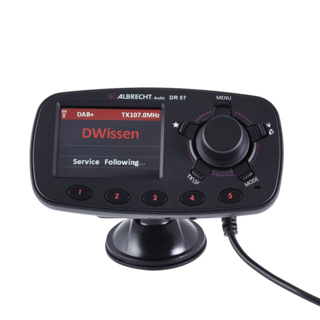DAB+ Autoradio Adapter Albrecht DR-57 inkl. Freisprechfunktion, Saugnapf,