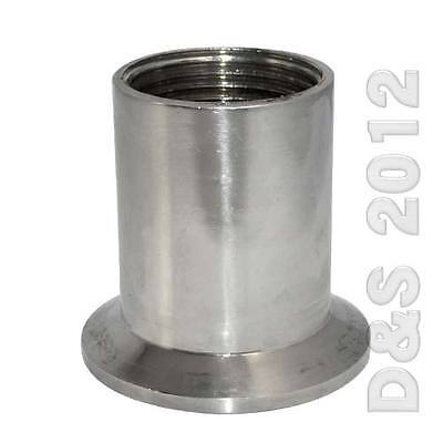 "DN15-50 1/2""-2"" Female NPT Ferrule Pipe Fittings Tri Clamp Type Sanitary SS316"