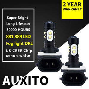 2x-881-889-CREE-LED-Fog-Light-bulbs-2400lm-6500k-for-Kia-Sorento-2003-2018-car-f
