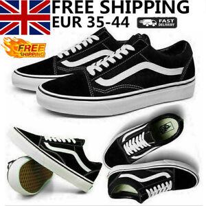 Men VAN Old Skool Skate Shoes Black All Size Classic Canvas Running Sneakers