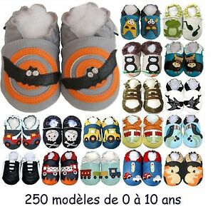 22916db064895 250 modèles de chaussons en cuir souple Bébé enfant Garçon de 0 à 10 ...