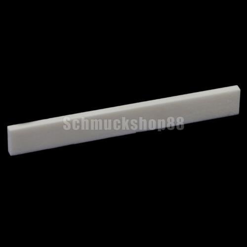 2x STEGAUFLAGE Sattel Stegeinlage aus Knochen für GITARRE 80 x 3 x 10mm NEU