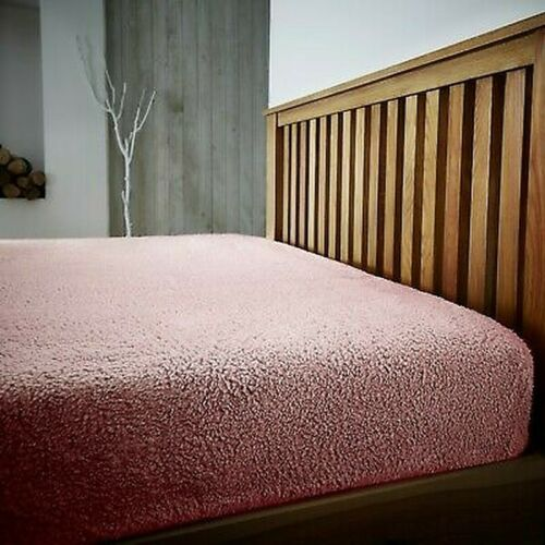 """EXTRA DEEP 12/""""//30CM DEEP FITTED TEDDY BEAR FLEECE FITTED SHEETS PILLOWCASES"""